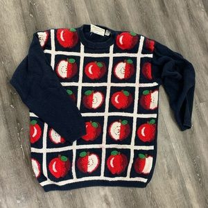 Sweaters - Vintage Apple Novelty Sweater 🍎🍎Large